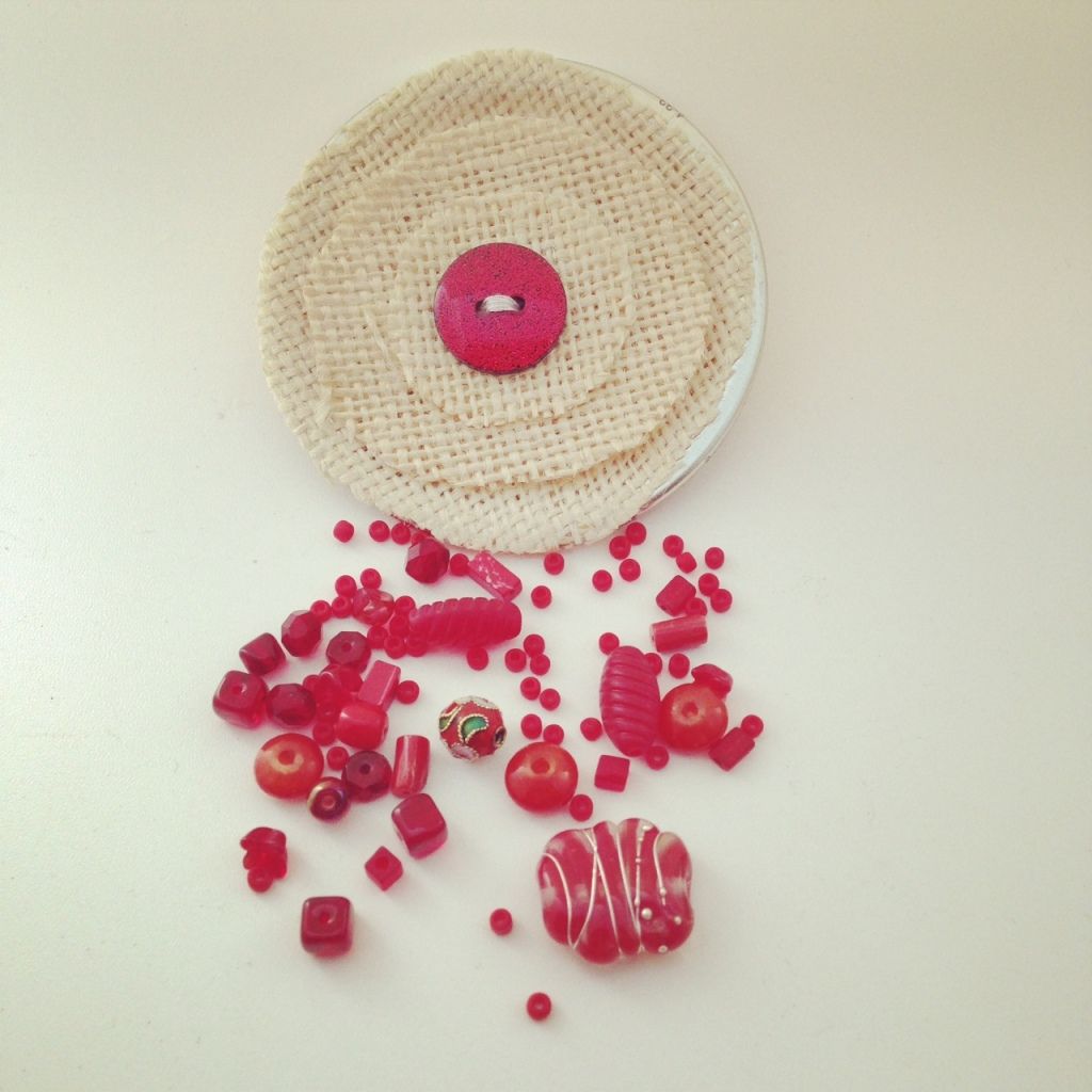 Bracelet Kits - assorted beads and a handmade glass feature bead