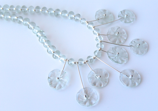 The beads in this necklace were made from a Banrock Station Wine Bottle!