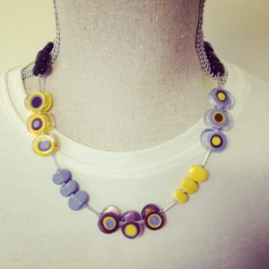 Yellow Purple Necklace by Julie Frahm