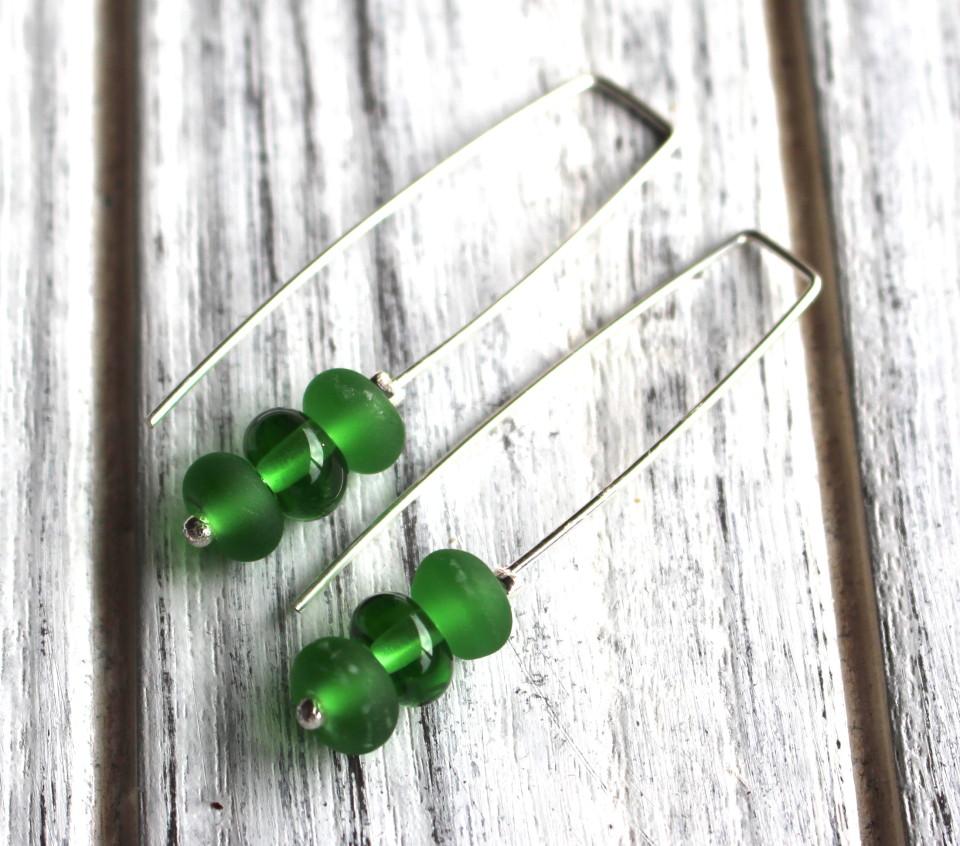 Peroni beer bottle earrings