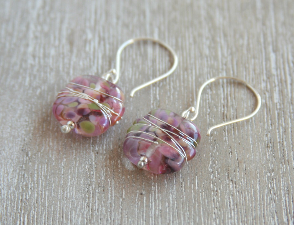 Earrings made from a wine bottle!