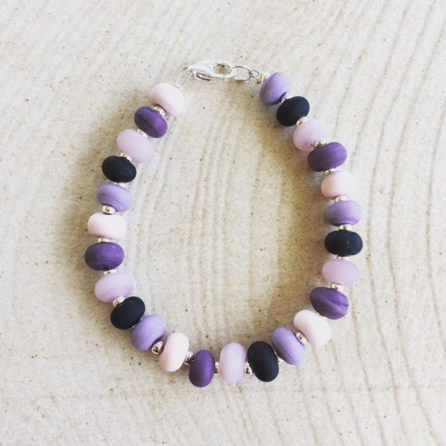 Etched Purple Bracelet