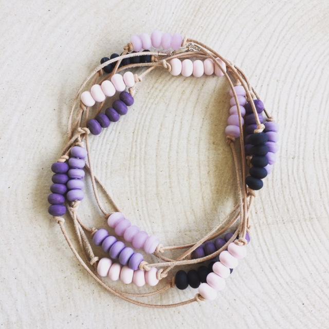 Etched Purple Necklace