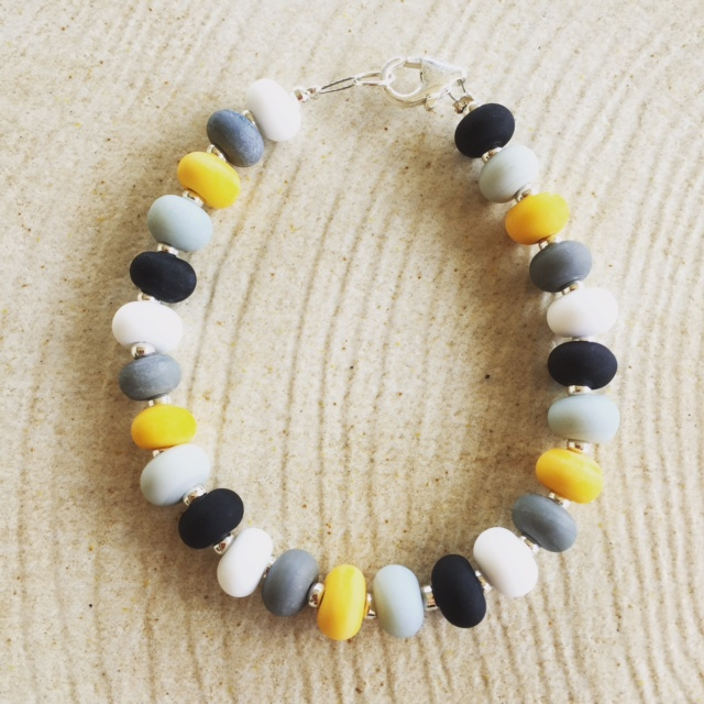 Etched Yellow Bracelet