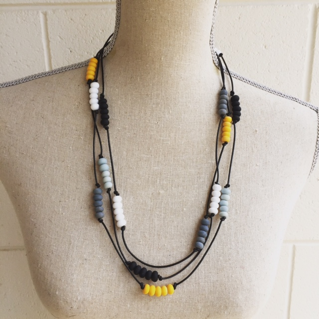Etched Yellow Necklace