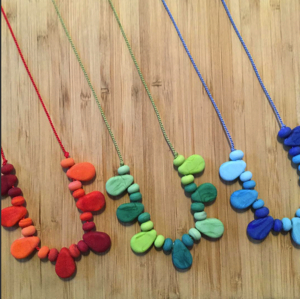 Silk cord necklaces by Julie Frahm at Urban Cow Studio
