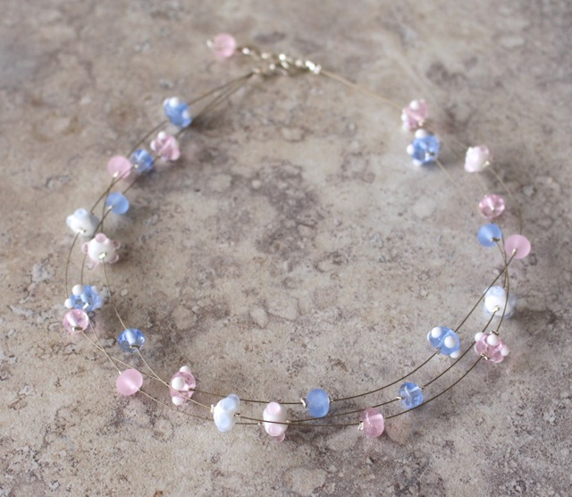 Rose Quartz and Serenity necklace by Julie Frahm