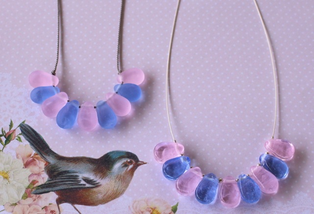 Rose Quartz and Serenity necklaces