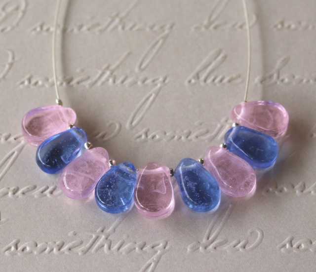 Rose Quartz and Serenity on silver