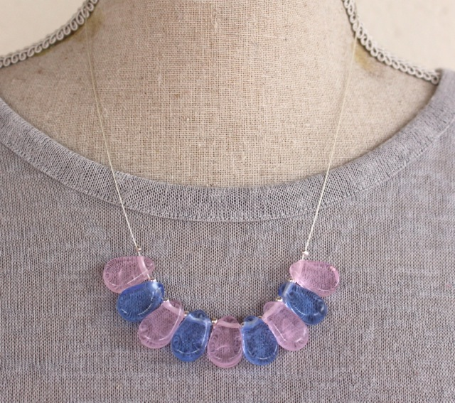Rose Quartz and Serenity on silver wire