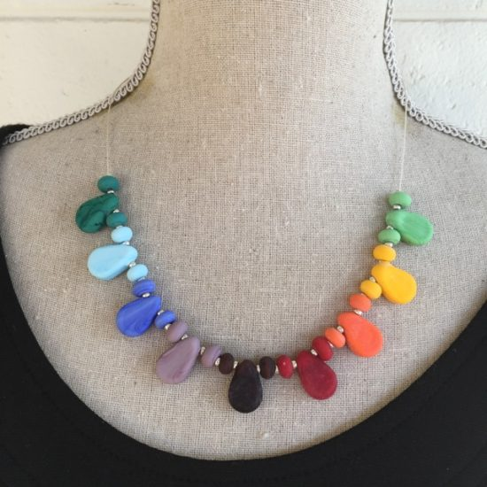 Colourful drop necklace