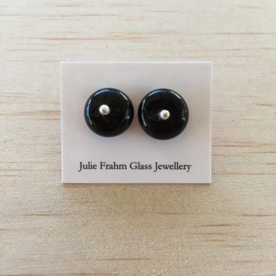 Stud Earrings - black