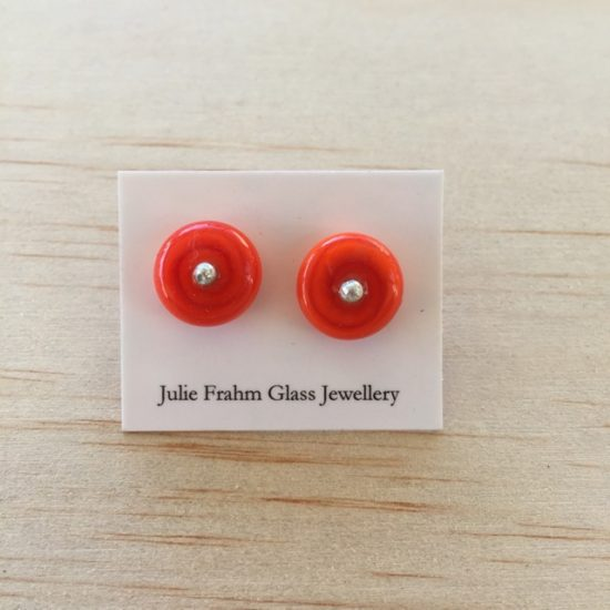 Stud earrings - Orange