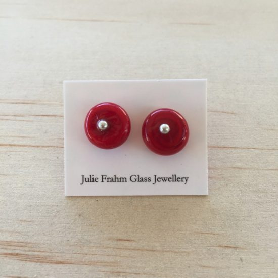 Stud earrings - Red