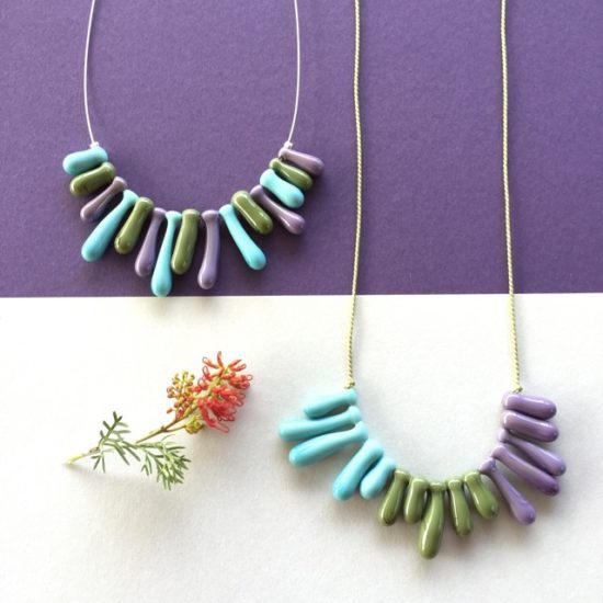 Stunning olive green necklaces by Julie Frahm
