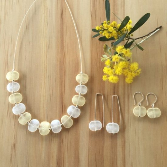 Silver Gold jewellery by Julie Frahm - handmade glass beads