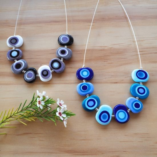 Kandinsky inspired necklaces by Julie Frahm