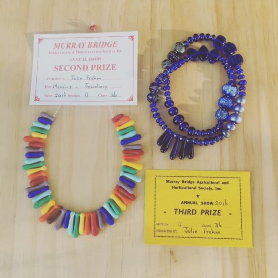 Handmade glass beads by Julie Frahm