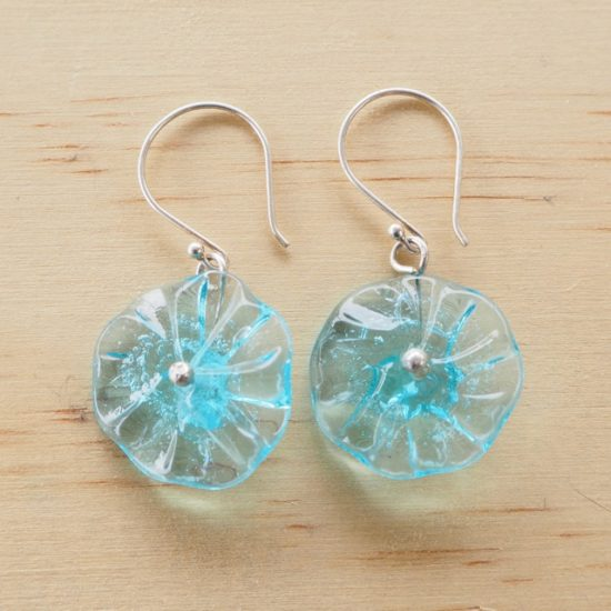 Bombay Sapphire Gin flower earrings