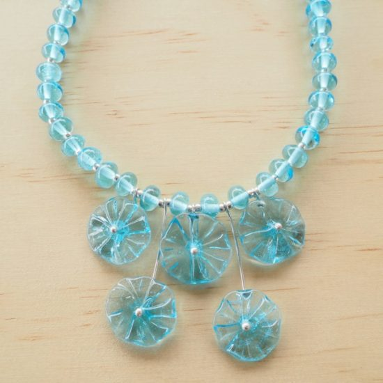 Bombay Sapphire Gin flower necklace