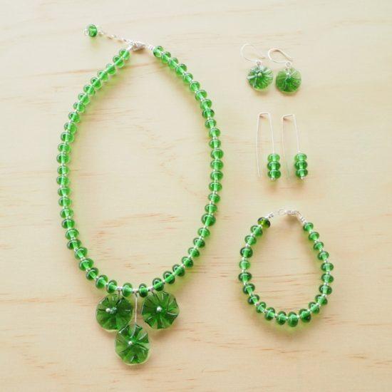 Peroni recycled glass bead jewellery