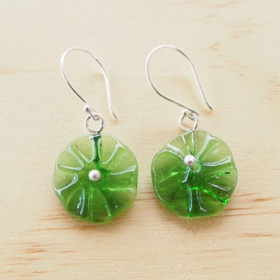 Peroni recycled glass bead earrings
