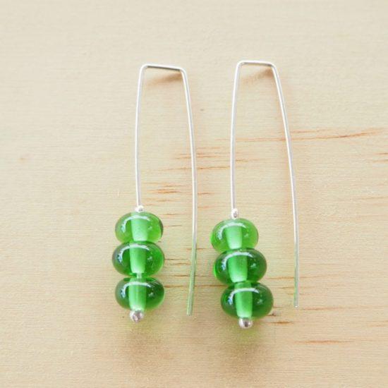 Peroni recycled glass bead earrings