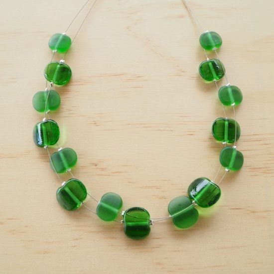 Peroni recycled glass bead necklace