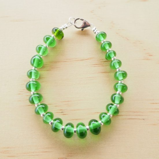 Peroni recycled glass bead bracelet