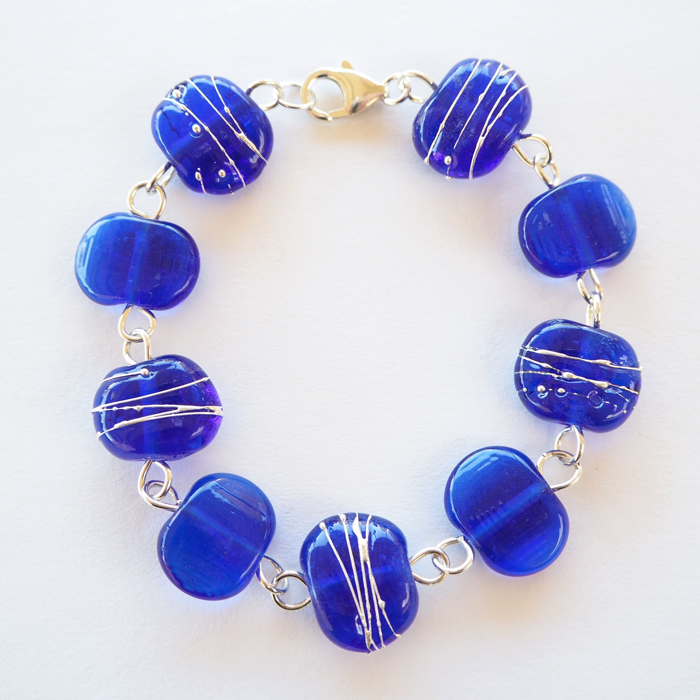 blue magnets glass bead product shamballa bracelet light shamballs beads
