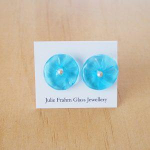 blue flower earrings