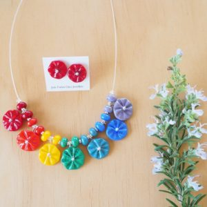 chakra flower necklace