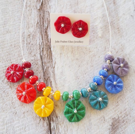 chakra flower necklace