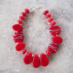 red glass bracelet
