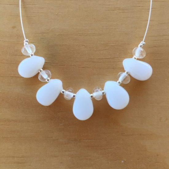 milk glass necklace