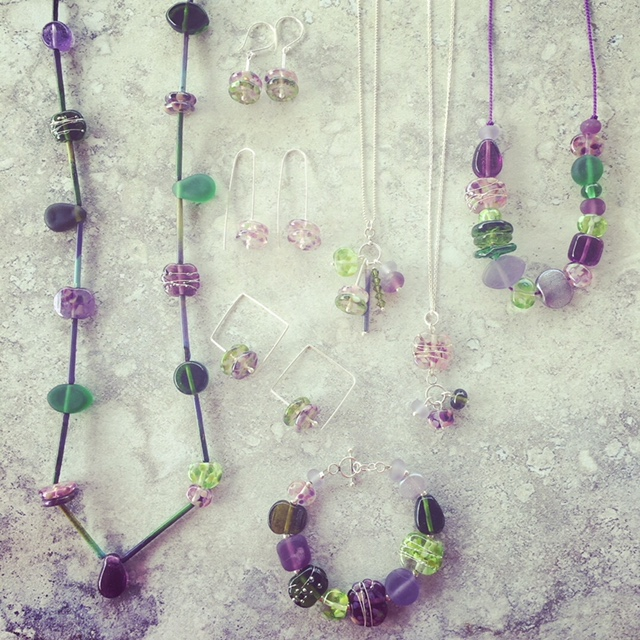 recycled glass jewellery