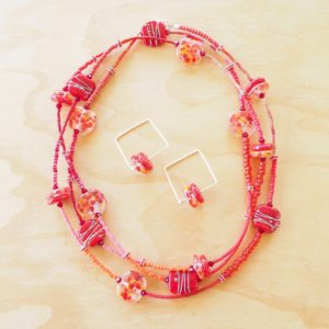 long red bead necklace