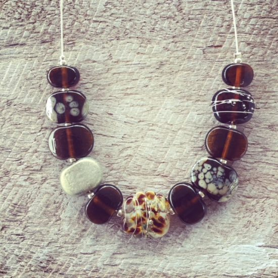 recycled glass necklace