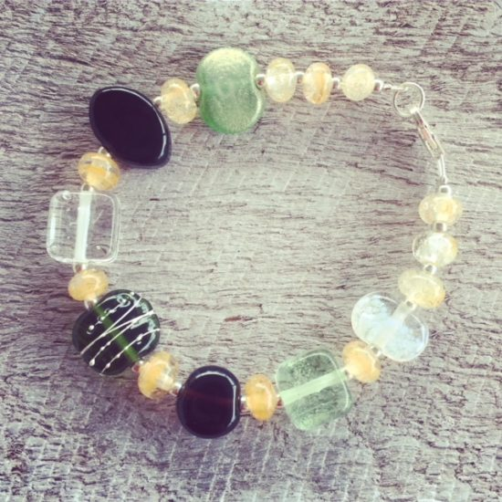recycled glass beads