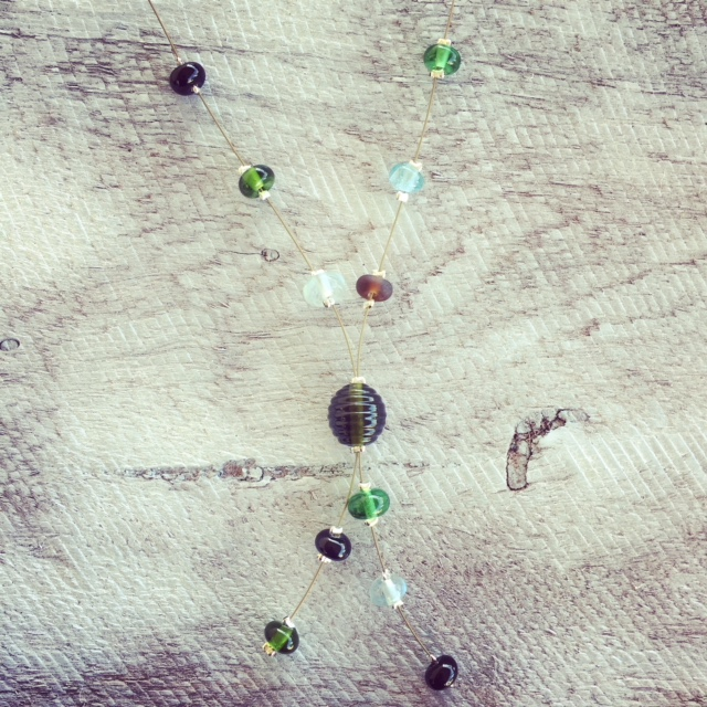 Recycled glass bead | prototype necklace