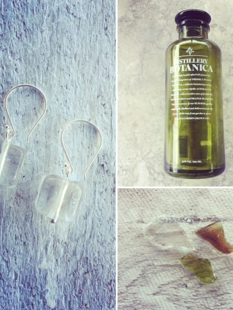 Recycled glass beads | sometimes the colour disappears!