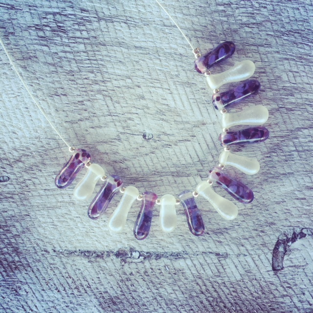 Recycled glass jewellery challenge | beads made from wine and tonic water bottles