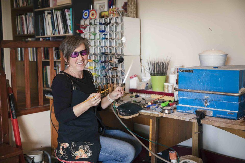 Recycled glass jewellery   handmade glass beads   Julie Frahm   Glass Artist