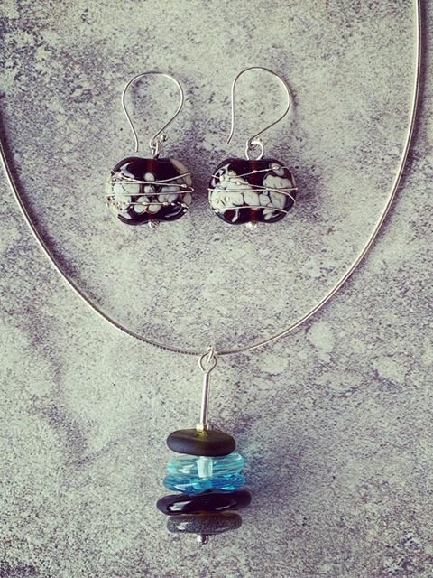 Recycled glass bead jewellery | beads made from wine and gin bottles