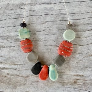 Coral mint necklace