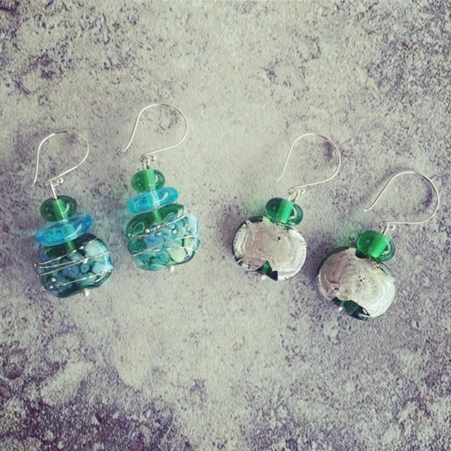 Tanqueray gin bottle earrings