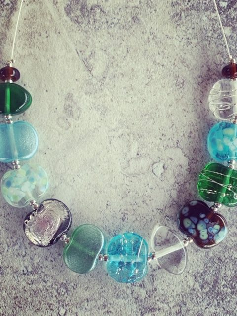 World Gin Day 2019 - celebrate with a necklace made from Tanqueray, Bombay Sapphire and Hendricks gin bottles