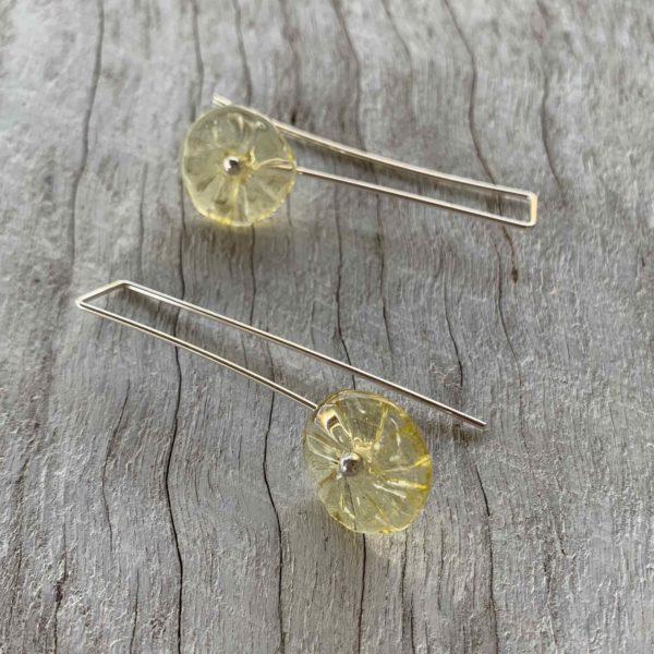 pretty yellow flower earrings for spring