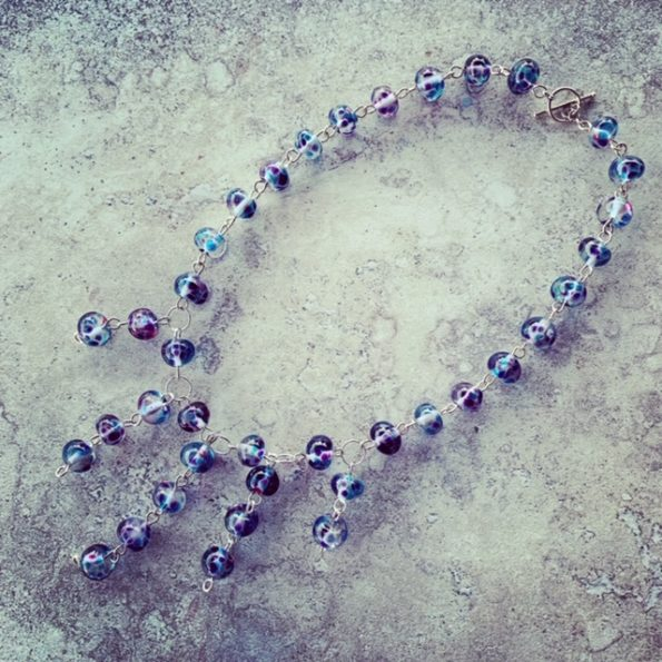 Beautiful recycled glass necklace