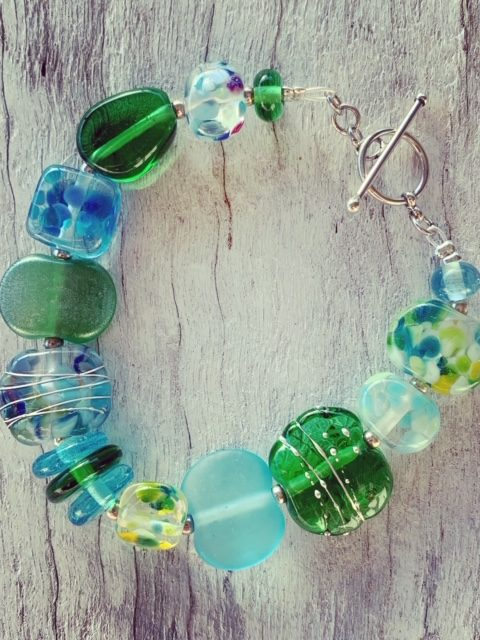 Bombay Sapphire and Tanqueray Gin bottle bracelet